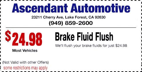 Auto brake service coupons